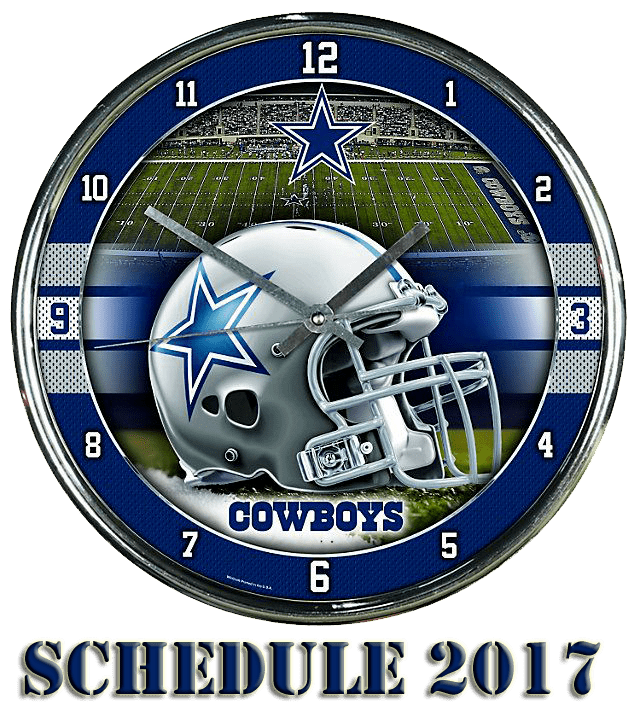 Dallas Cowboy Footbal Schedule 2017