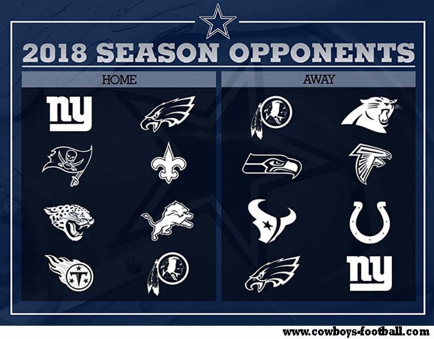 Dallas Cowboys Game Schedule 2018